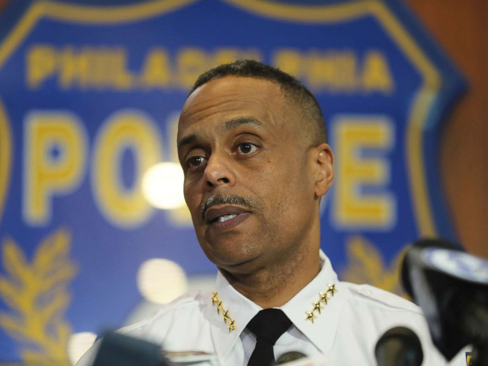 Philadelphia Police Commissioner Richard Ross speaks to the media during a press conference, April 19, 2018 in Philadelphia. Ross apologized to the two black men who were arrested at a city Starbucks.