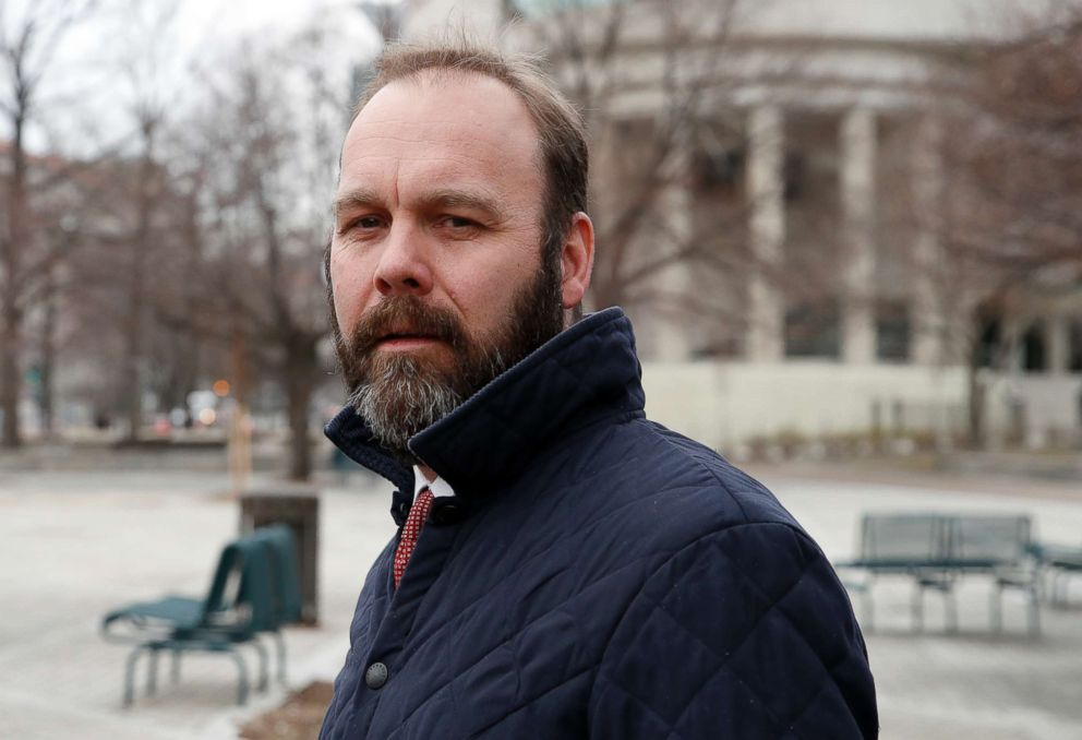 Rick Gates departs Federal District Court, Feb. 14, 2018, in Washington, DC.