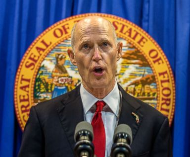 PHOTO: Florida Governor Rick Scott lays out his school safety proposal during a press conference at the Florida Capitol in Tallahassee, Fla., Feb 23, 2018.
