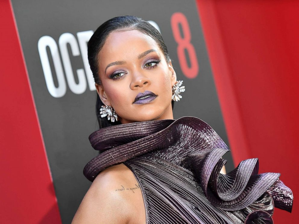 PHOTO: Rihanna arrives for the world premiere of Oceans 8 on June 5, 2018 in New York.