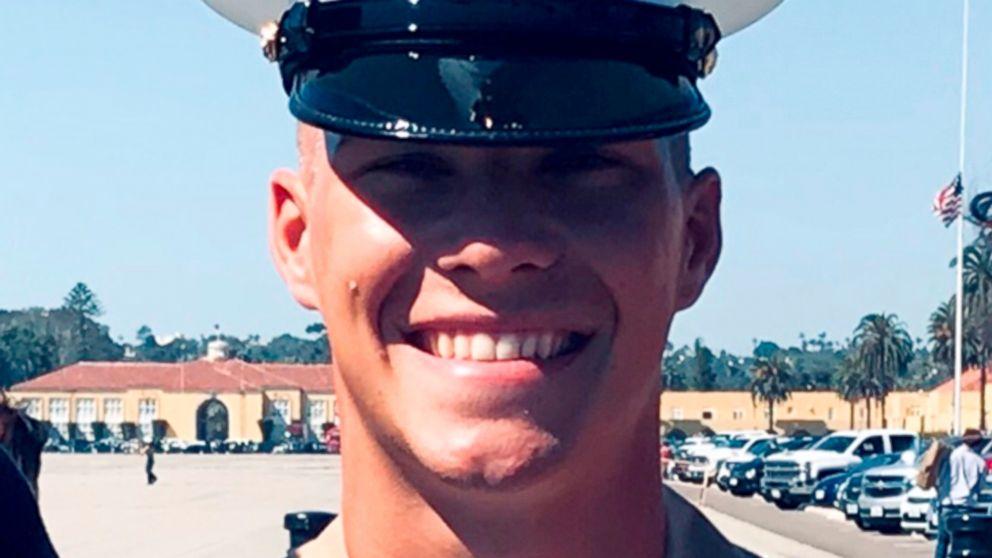 Riley Kuznia at his Marine graduation ceremony in San Diego.