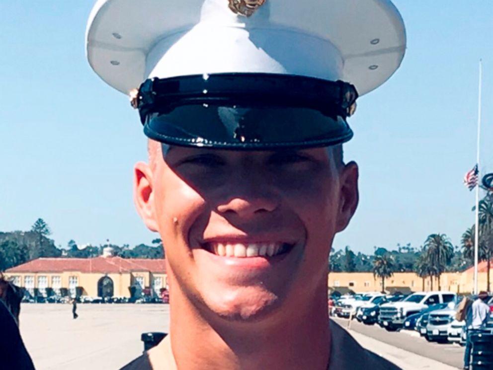 PHOTO: Riley Kuznia at his Marine graduation ceremony in San Diego.