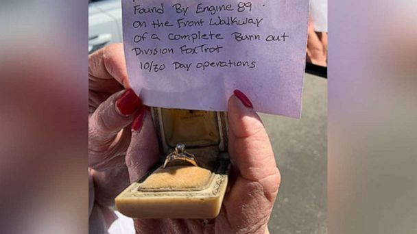 Firefighters return homeowner's ring that survived the Getty Fire