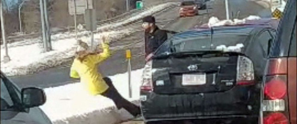 Man Seen Shoving Woman To The Ground In Alleged Road Rage