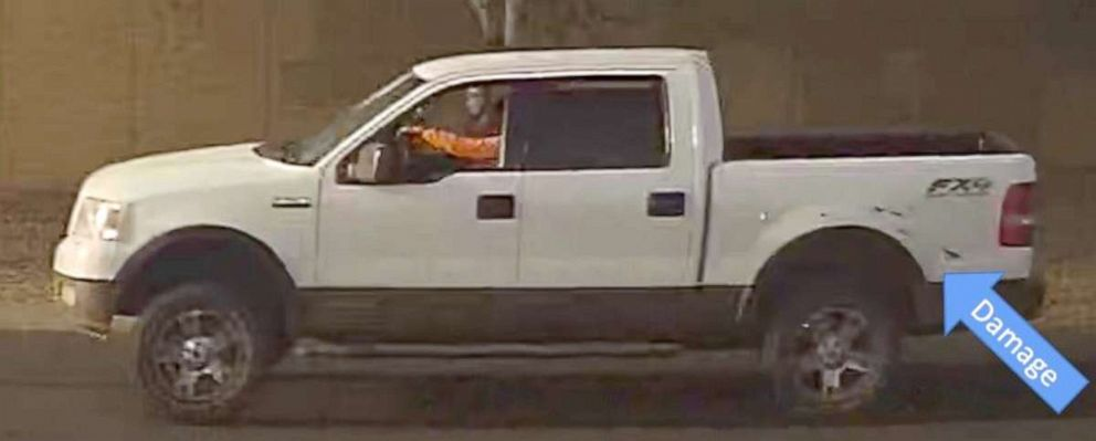 PHOTO: Phoenix police are searching for the gunman, seen here driving a white truck, who shot and killed a 10-year-old girl in an apparent road rage incident, April 3, 2019.