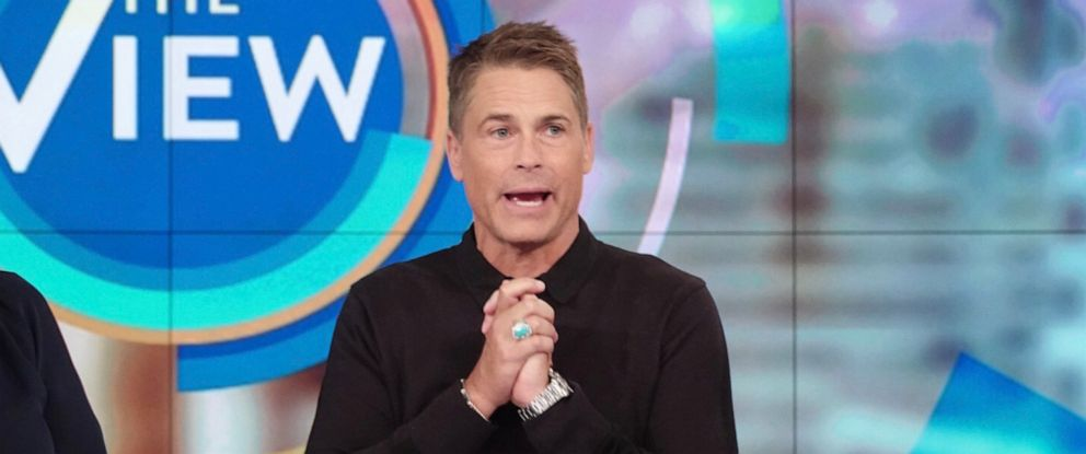 """PHOTO: Rob Lowe opens up about his sobriety and how Demi Moore inspired him, on """"The View"""" Monday, Sept. 30, 2019."""
