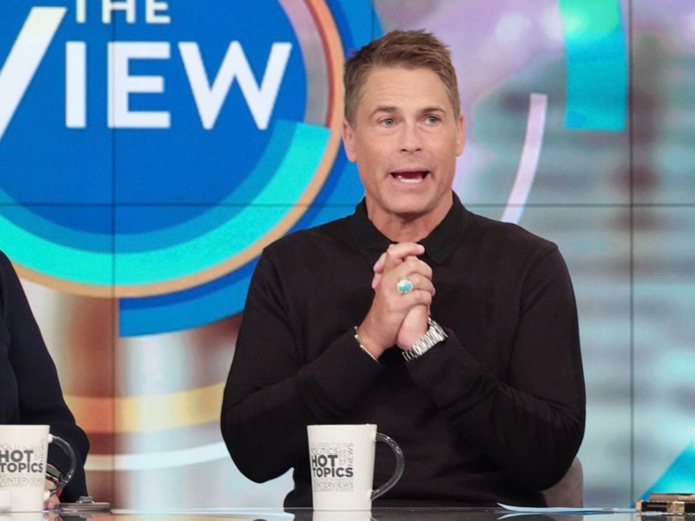 PHOTO: Rob Lowe opens up about his sobriety and how Demi Moore inspired him, on The View Monday, Sept. 30, 2019.