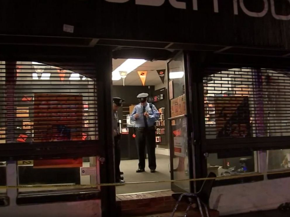 PHOTO: Police respond to a North Philadelphia cellphone store after a would-be thief got locked inside while attempting to rob it, Oct. 22, 2019.