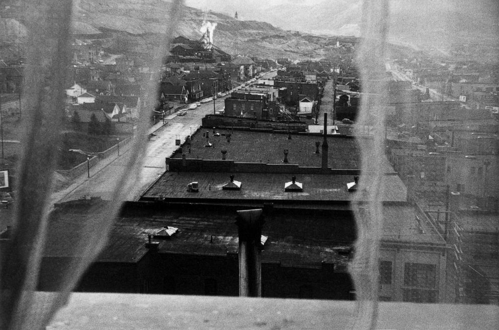 PHOTO: View from hotel window, Butte, Montana, 1956.