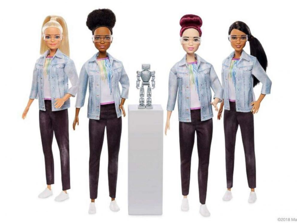 PHOTO: The new Robotics Engineer barbie comes in different ethnicities.