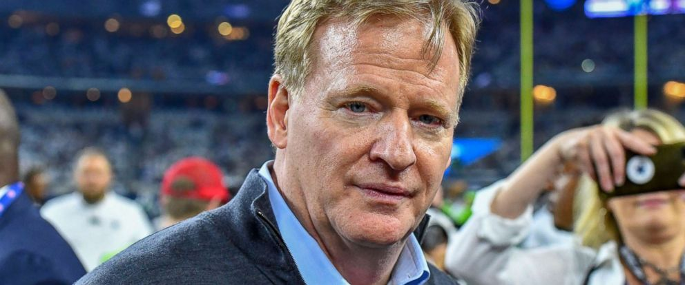 PHOTO: NFL Commissioner Roger Goodell before the NFL game between the Seattle Seahawks and the Dallas Cowboys at AT&T Stadium in Arlington, Texas, Jan. 5, 2019.