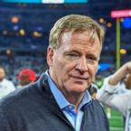 NFL Commissioner Roger Goodell before the NFL game between the Seattle Seahawks and the Dallas Cowboys at AT&T Stadium in Arlington, Texas, Jan. 5, 2019.