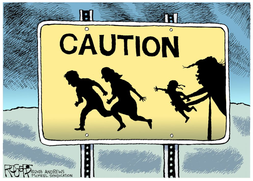 PHOTO: Editorial cartoon by Rob Rogers.
