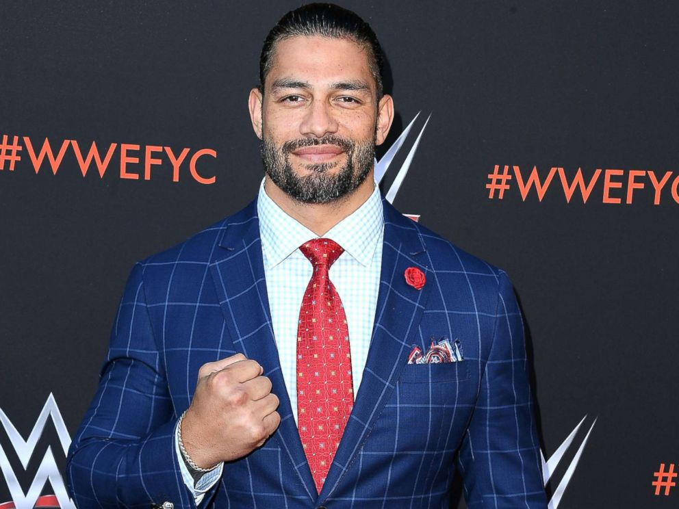 PHOTO: Roman Reigns arrives at the WWEs First-Ever Emmy For Your Consideration Event at Saban Media Center, June 6, 2018, in North Hollywood, Calif.