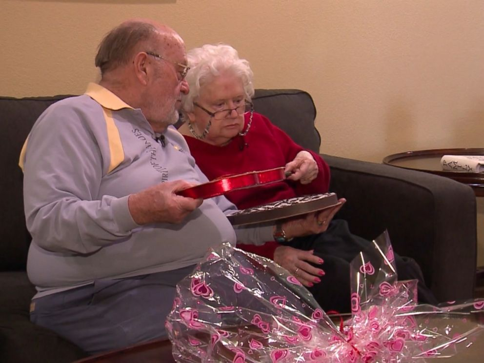 PHOTO: Ron Kramer has been refilling the same candy box with dark chocolates for his wife, Donna, since 1979.