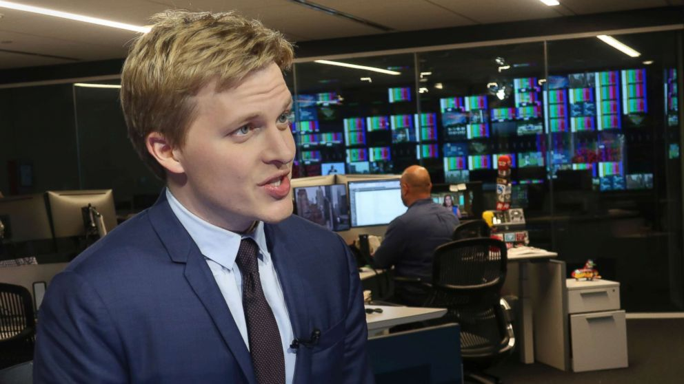 Ronan Farrow, a contributing writer for the New Yorker, speaks with reporters at Associated Press headquarters in New York City, July 27, 2018.