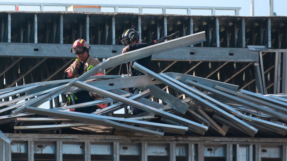 3 Workers Sent To Hospital After Partial Roof Collapse Of Houston