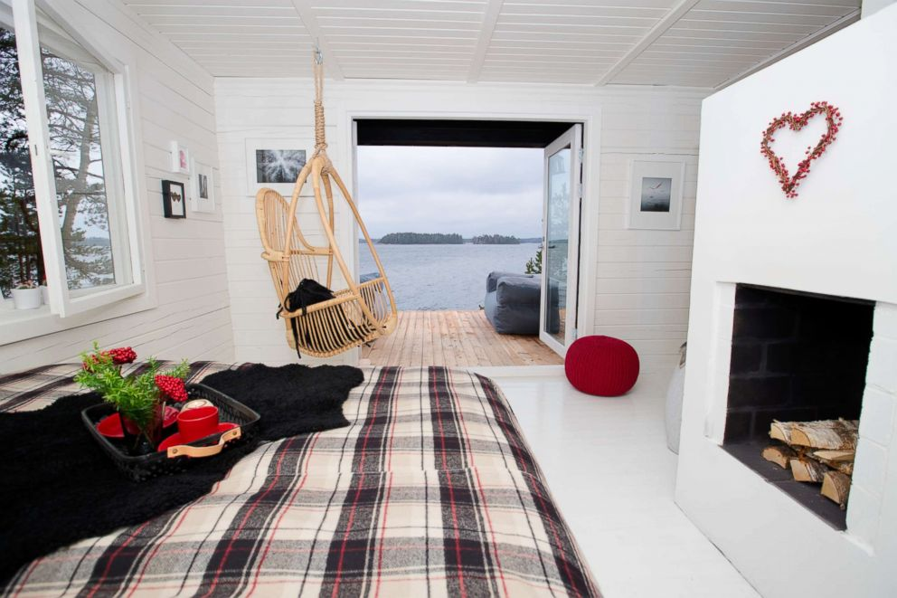 PHOTO:SuperShe island has several vacation cabins - available only for women who pass the application process.