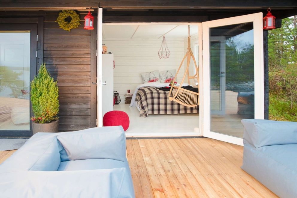 PHOTO: SuperShe island has several vacation cabins - available only for women who pass the application process.