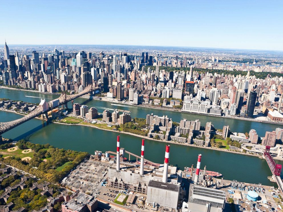 PHOTO: Roosevelt Island and Manhattan are seen here.
