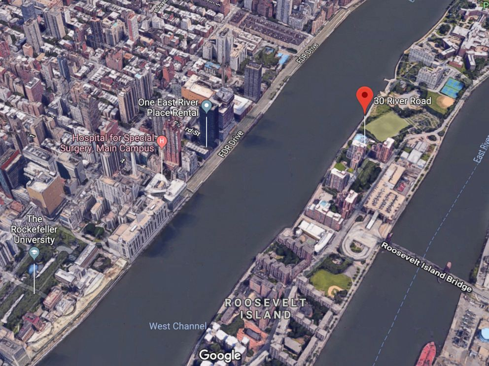 PHOTO: One East River Place in Manhattan and 30 River Road on Roosevelt Island are seen here.