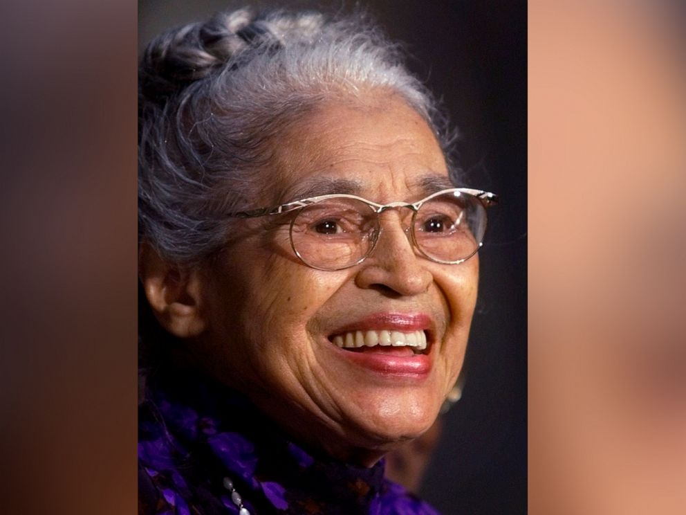 PHOTO: In a June 15, 1999 file photo Rosa Parks smiles during a Capitol Hill ceremony where Parks was honored with the Congressional Gold Medal in Washington.