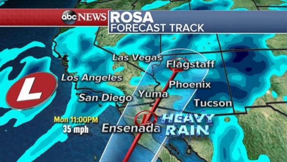 PHOTO: Rosa is forecast to make landfall in Baja California and then move into the southwest U.S.