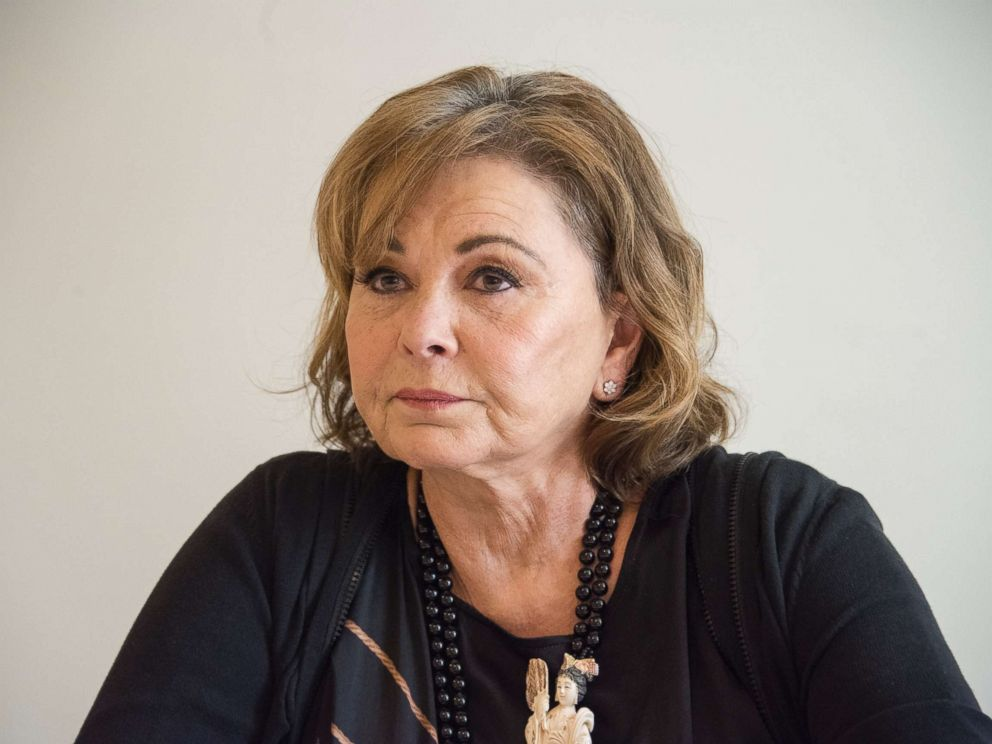 PHOTO: Roseanne Barr at the Roseanne press conference at the Four Seasons Hotel on March 23, 2018 in Beverly Hills, Calif.