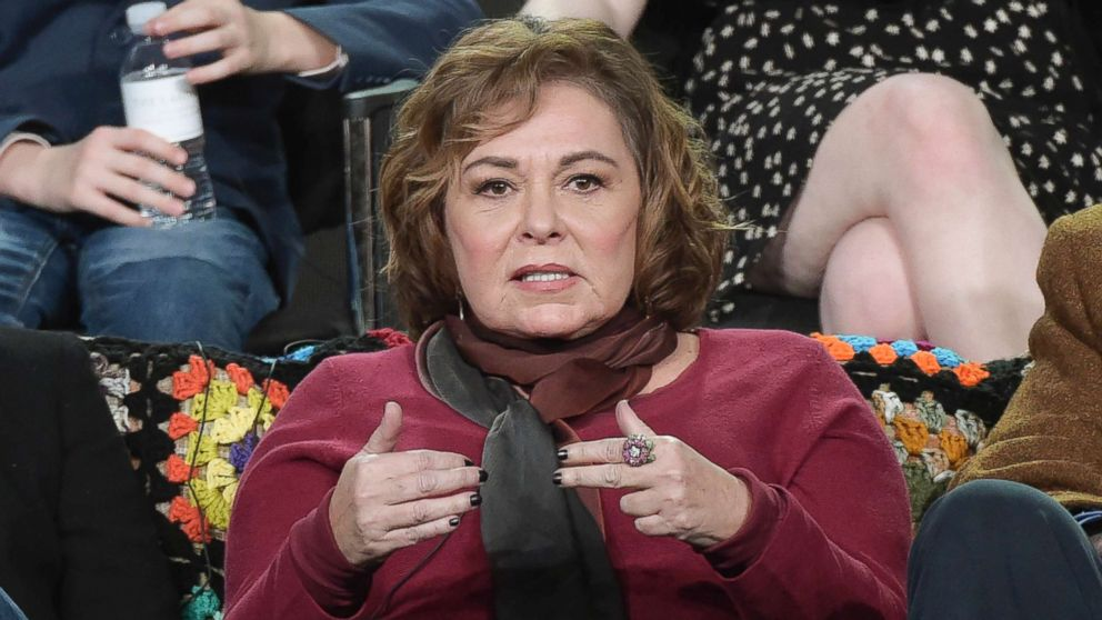 """Roseanne Barr participates in the """"Roseanne"""" panel during a press tour in Pasadena, Calif., Jan. 8, 2018."""