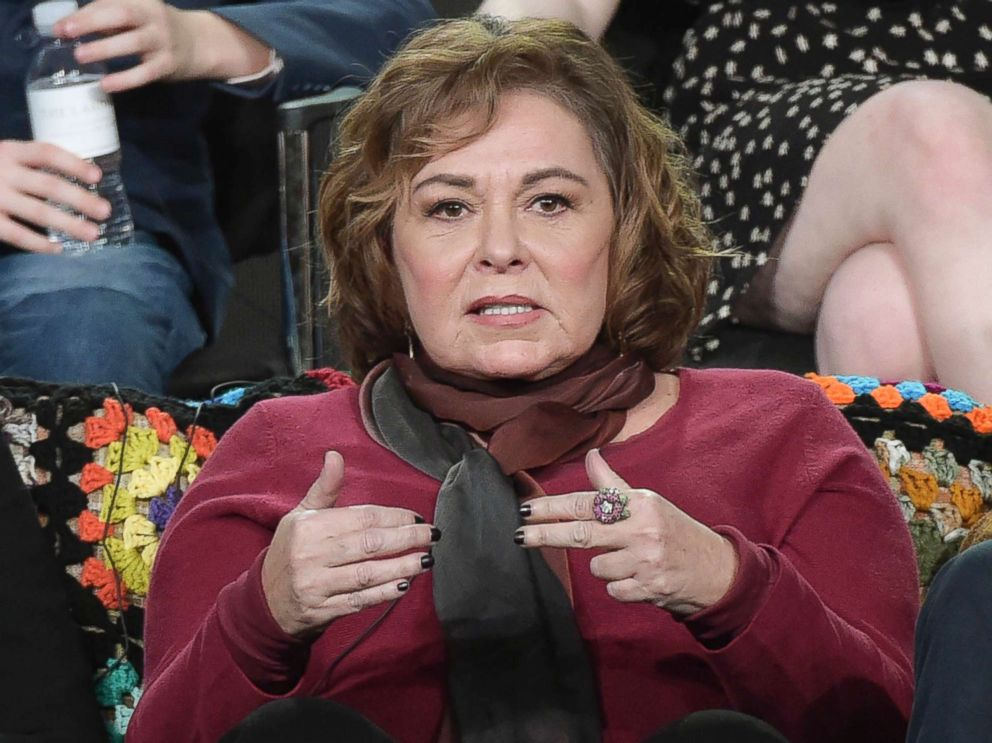 PHOTO: Roseanne Barr participates in the Roseanne panel during a press tour in Pasadena, Calif., Jan. 8, 2018.