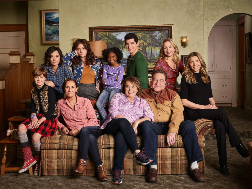 PHOTO: The cast of the sitcom Roseanne are pictured in this undated photo.