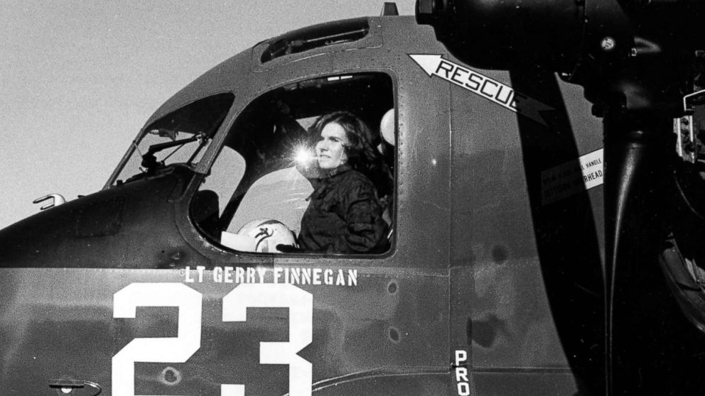 Pilot Rosemary Conatser, later Mariner, sits in the cockpit of an antisubmarine aircraft at Naval Air Station Oceana in Virginia Beach, Va., Jan. 9, 1975.