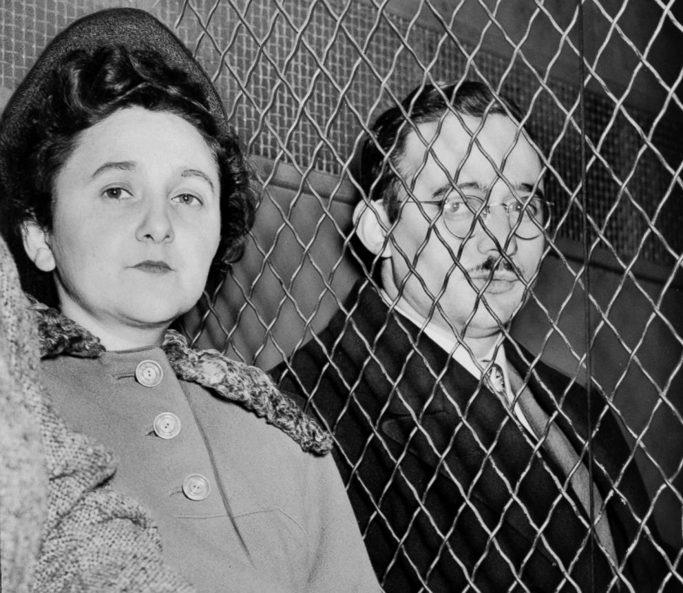 PHOTO: Julius Rosenberg and Ethel Rosenberg, American communists, were executed after having been found guilty of conspiracy to commit espionage.
