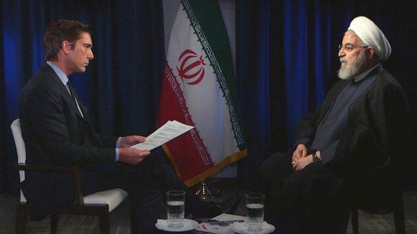 Iran President Hassan Rouhani tells ABC News' David Muir US sanctions are 'against international laws'