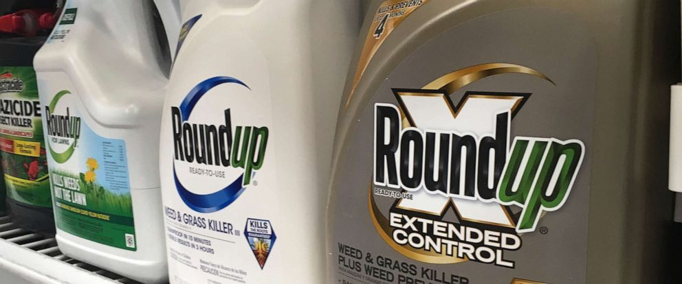 PHOTO: Containers of Roundup are displayed on a store shelf in San Francisco, Feb. 24, 2019.