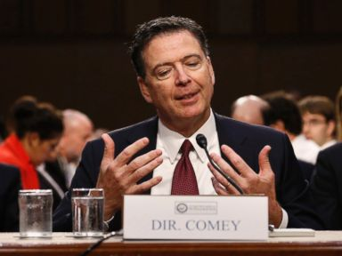 PHOTO: Former FBI Director James Comey testifies before a Senate Intelligence Committee hearing on Russias alleged interference in the 2016 U.S. presidential election on Capitol Hill in Washington, D.C., June 8, 2017.