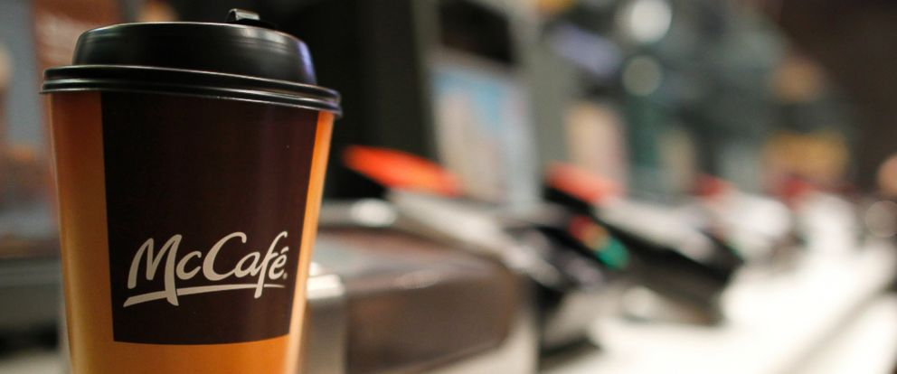 PHOTO: A cup of coffee is seen on a counter at a McDonalds restaurant in New York on April 19, 2011.