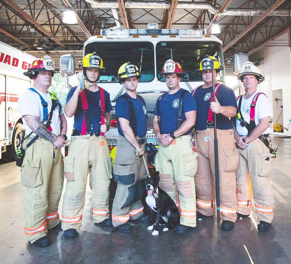 PHOTO: Ruby is pictured with members of Palm Harbor Fire Rescue Station in Palm Harbor, Fla.