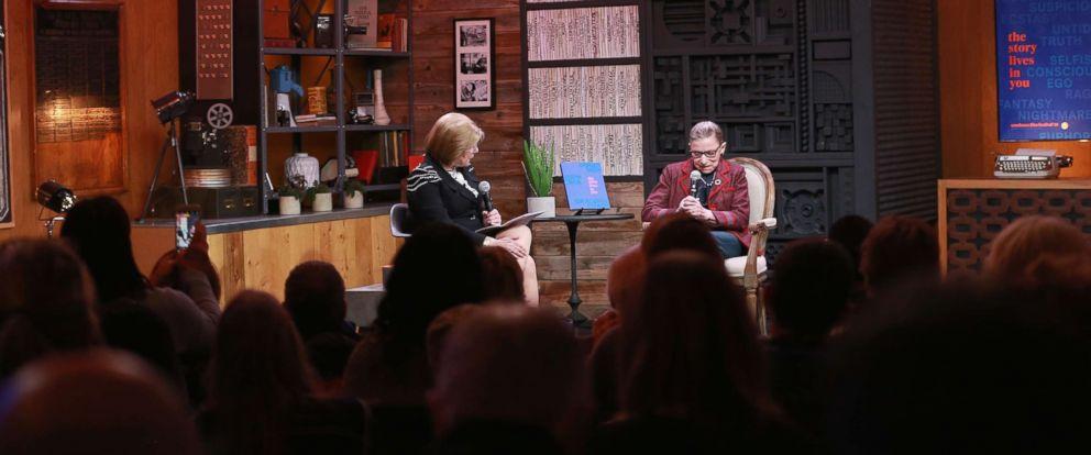 PHOTO: NPR legal affairs correspondent Nina Totenberg (L) with Associate Justice Ruth Bader Ginsburg during the 2018 Sundance Film Festival at Filmmaker Lodge, Jan. 21, 2018 in Park City, Utah.