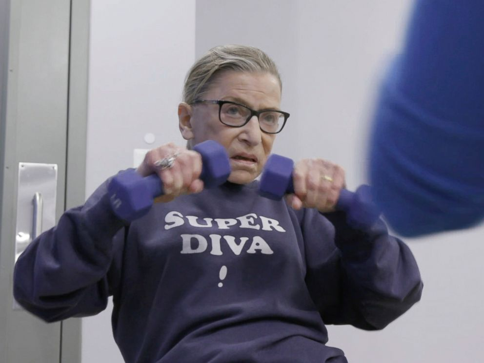 PHOTO: This image launched by Magnolia Photos exhibits U.S. Supreme Court justice Ruth Bader Ginsburg in a scene from RBG.