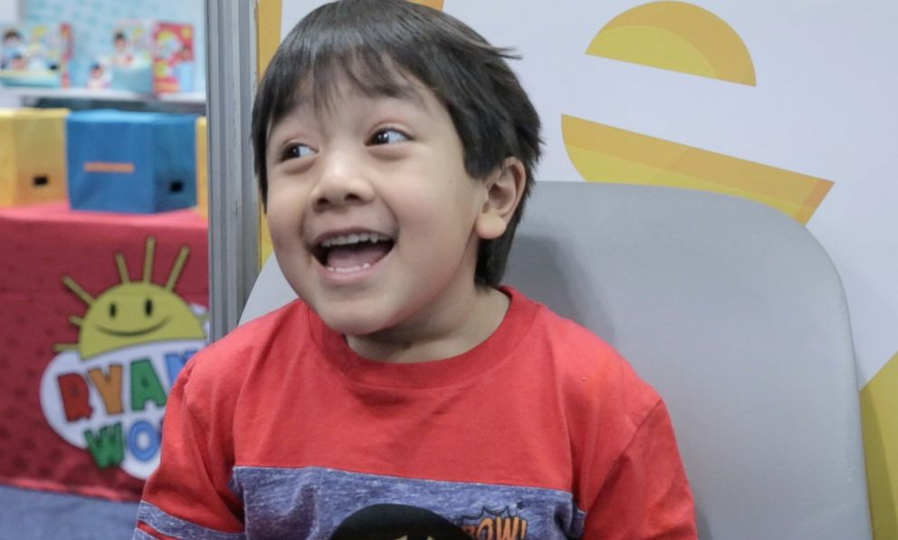 PHOTO: Ryan is only 6-years-old but is the most popular kid influencer on YouTube.