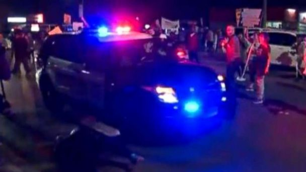 Dash cam footage shows cop hitting protester in rally for Sacramento police shooting victim Stephon Clark