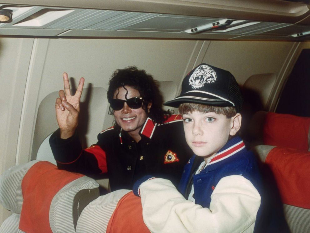 PHOTO: Michael Jackson with 10 year old Jimmy Safechuck on a tour plane on July 11, 1988.