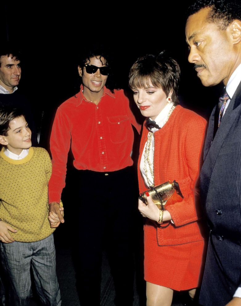 PHOTO: Jimmy Safechuck, Michael Jackson and Liza Minnelli attend an event in 1988.