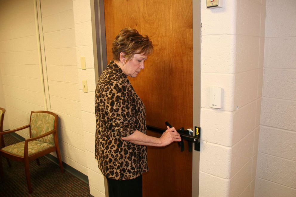 PHOTO: Experts say classroom doors should be outfitted with locks that are easy to operate in high-stress situations.