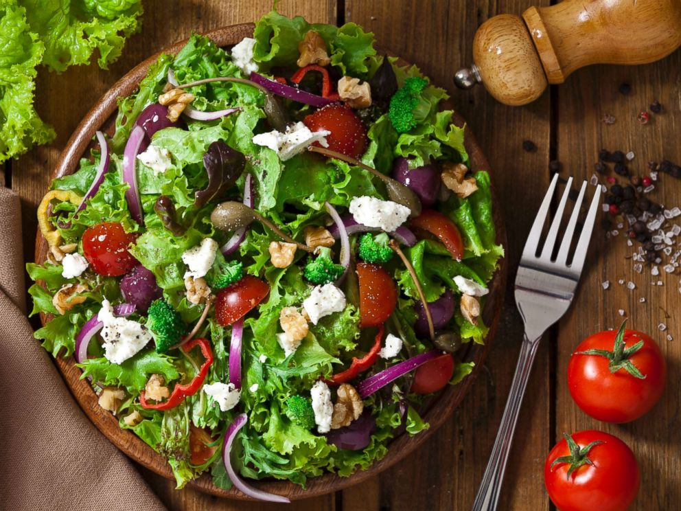 PHOTO: A colorful salad is pictured in this undated stock photo.