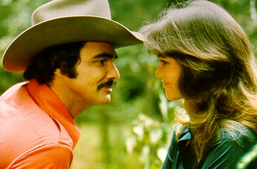 PHOTO: Burt Reynolds and Sally Field in the film Smokey and the Bandit.