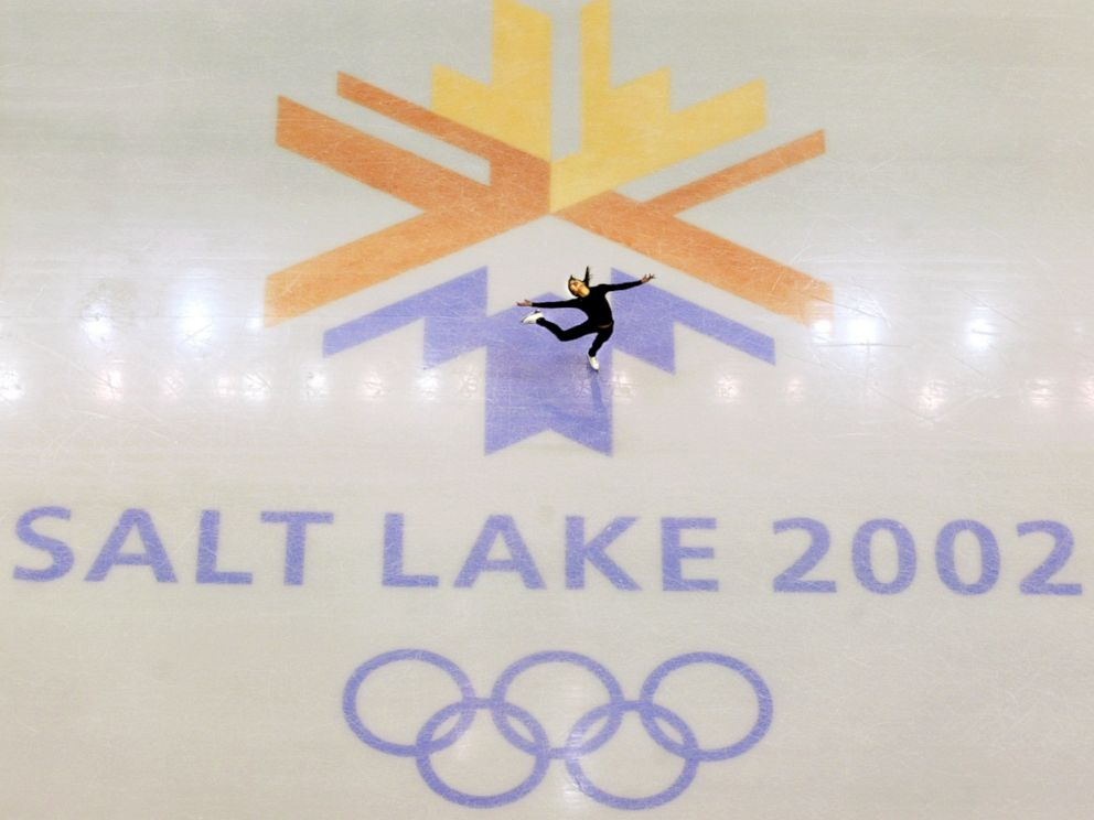 PHOTO: This Feb. 8, 2002, file photo, shows U.S. champion Michelle Kwan practicing for the womens short program for the Winter Olympic Games at the Salt lake Ice Center in Salt Lake City.