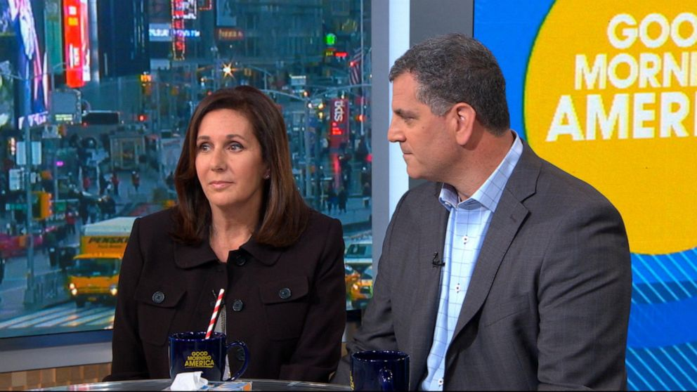 "Marci Josephson and Seymour Josephson speak to ""Good Morning America,"" April 15, 2019."