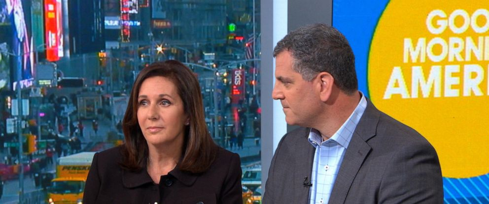 "PHOTO: Marci Josephson and Seymour Josephson speak to ""Good Morning America,"" April 15, 2019."